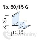 OWA premium S 3a obvodový stínový profil 3050mm č. 50/15G