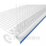 PVC nadokenní profil s přiznanou okapničkou dl.2,5m