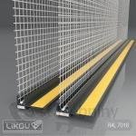 PVC začišťovací okenní profil 6mm/2,4m s mřížkou Vertex - APU lišta antracit