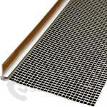 PVC začišťovací okenní profil 6mm/1,6m s mřížkou Vertex - APU lišta bílá