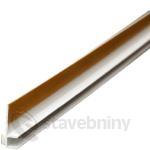PVC začišťovací okenní profil 6mm/2,4m - APU lišta bílá