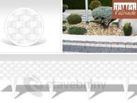Gardenplast Rattan palisade zahradní obrubník 240 cm bílá