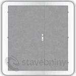 Kooperativa pozinkované ocelové dveře zateplené typ 86 - 2400/2400/DL1200