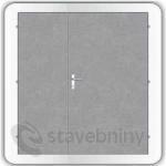 Kooperativa ocelové dveře zateplené typ 86 - 1450/2480/DP700