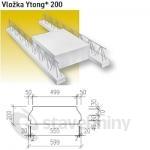 Ytong plus 200 - vložka pro stropy Ekonom a střechy Komfort P4-500