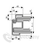 Kooperativa ocelové zárubně ZAKO pro sádrokarton S 75 DV 1250D