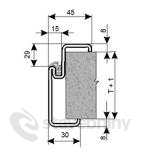 Kooperativa Zako ocelové zárubně pro přesné zdění YH 125 DV 1600D